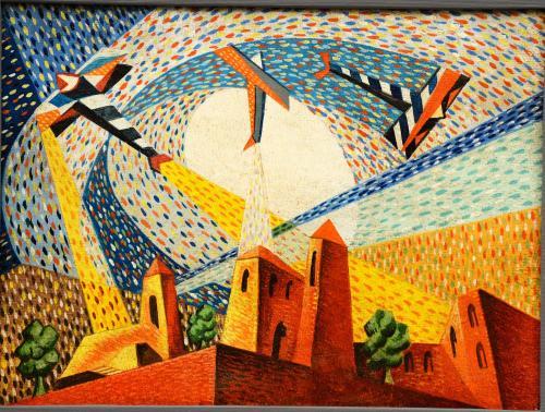 AGIBECI FUTURISTA   - AREOPITTURA 1930/40