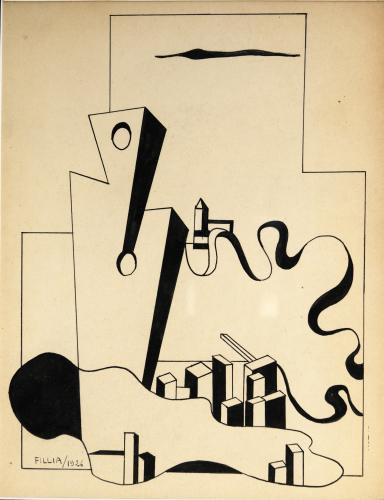 FILLIA  - COMPOSIZIONE FUTURISTA 1926