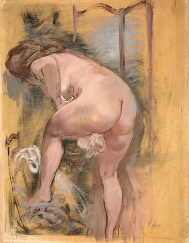 Grosz George - Nudo alla toilette