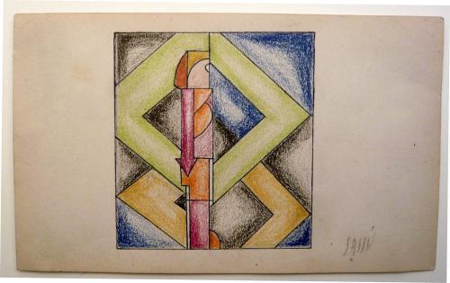 Sassu Aligi - Composizione Futurista 3 pezzi  1926-28