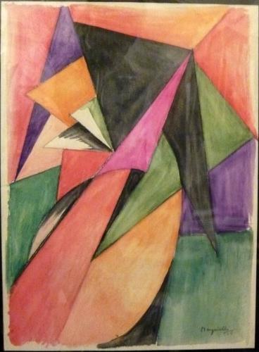 Magnelli Alberto - Composizione astratta 1915