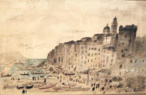CASCELLA  MICHELE - VEDUTA DI PORTOVENERE  1956