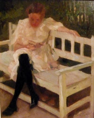 Protti Alfredo - Lettura in giardino 1923
