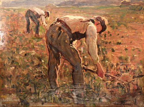 Peluzzi Eso - Contadini al lavoro 1921
