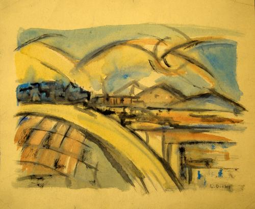 DUDREVILLE LEONARDO  - PAESAGGIO 1914