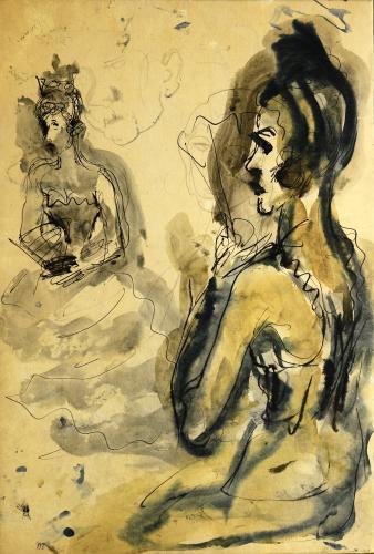 SIRONI MARIO - LE PROSTITUTE 1950 C.
