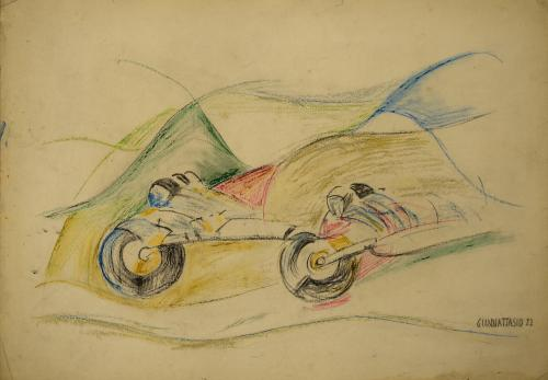 GIANNATTASIO UGO - DUE MOTOCICLISTI 1922