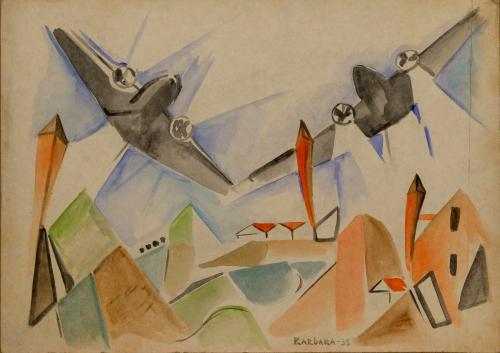 BARBARA  ( OLGA BIGLIERI )  - AREOPITTURA 1935