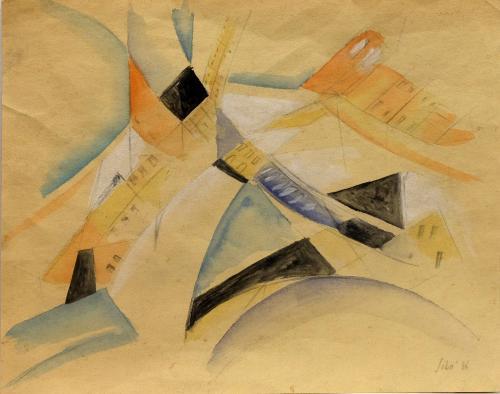 SIBO' ( PIERLUIGI BOSSI ) - AREOPITTURA 1936