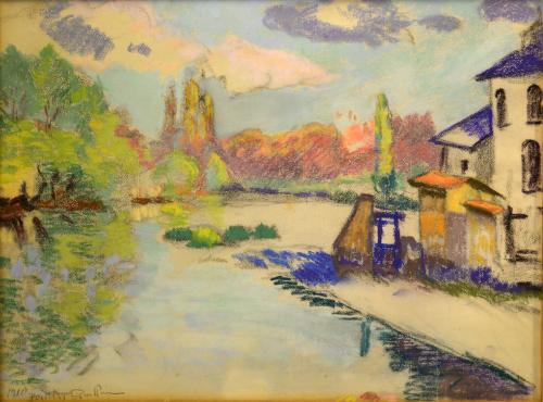 GUILLAUMIN ARMAND - PAESAGGIO FAUVE 1910