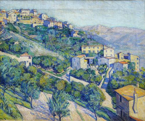 MARUSSIG PIERO  - PAESAGGIO 1910-12