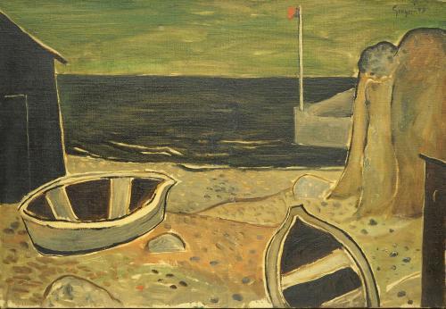 GREGORI GINO  - BARCHE IN SPIAGGIA 1949