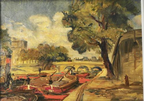 FRISIA DONATO - PARIGI LUNGO LA SENNA 1920