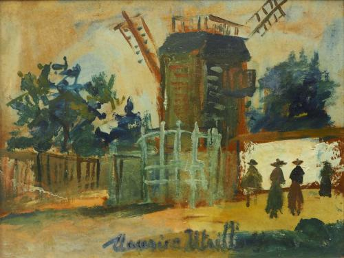 UTRILLO MAURICE  - MOULIN DE LA GALETTE 1920