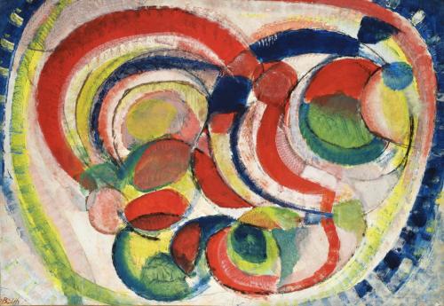 BOLIN GUSTAVE - ASTRAZIONE DI CERCHI 1960