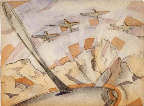 Bonetti Uberto - Aeropittura dall'aereo