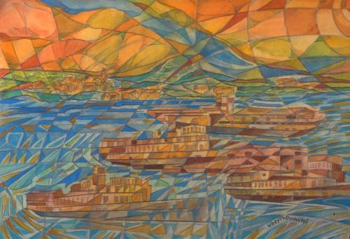 Bonetti Uberto - Lago Maggiore, Imbarcazioni - Aeropittura