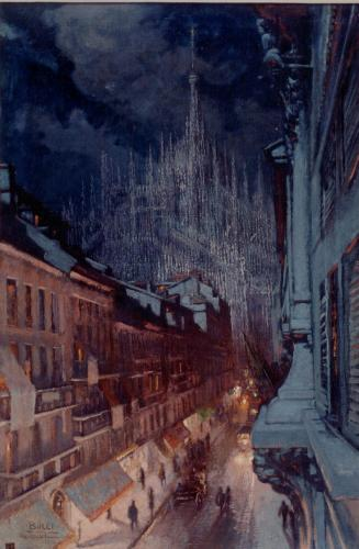BUCCI ANSELMO - VEDUTA DI MILANO 1922