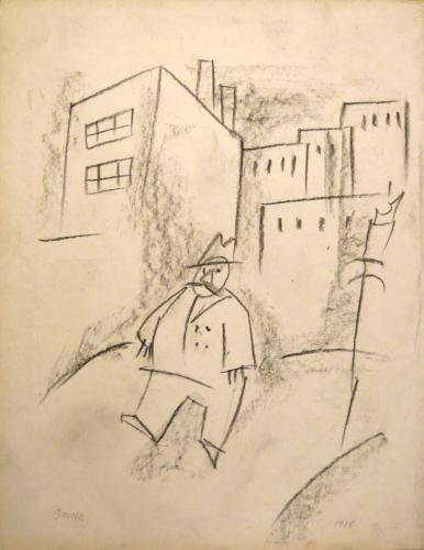 GROSZ GEORGE - PAESAGGIO CON FIGURA 1915