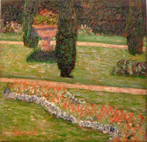 Guglielmo Baldassini - Scorcio di giardino