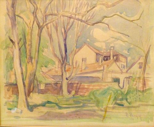 PARESCE RENATO - PAESAGGIO FRANCESE 1917