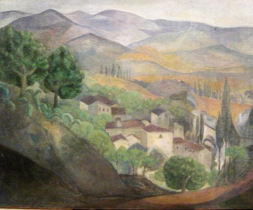 PARESCE RENE' - PAESAGGIO FRANCESE 1923