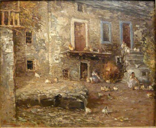 Pompeo Mariani - Cortile a Limone Piemonte