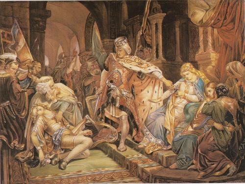 Poynter  Sir Edward John   - LA MORTE DEL MENESTRELLO