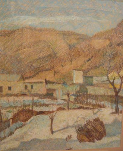 RAMPONI FERDINANDO - PAESAGGIO MONTANO 1908