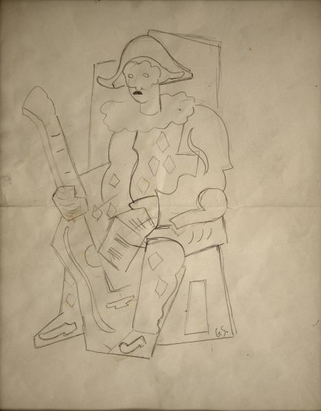 ARLECCHINO SEDUTO CON CHITARRA 1934/35