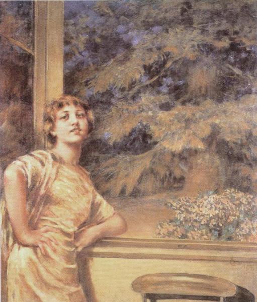 Conconi luigi ragazza alla finestra 1914 arteelite for Ragazza alla finestra quadro