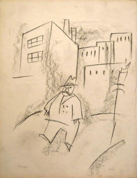PAESAGGIO CON FIGURA 1915
